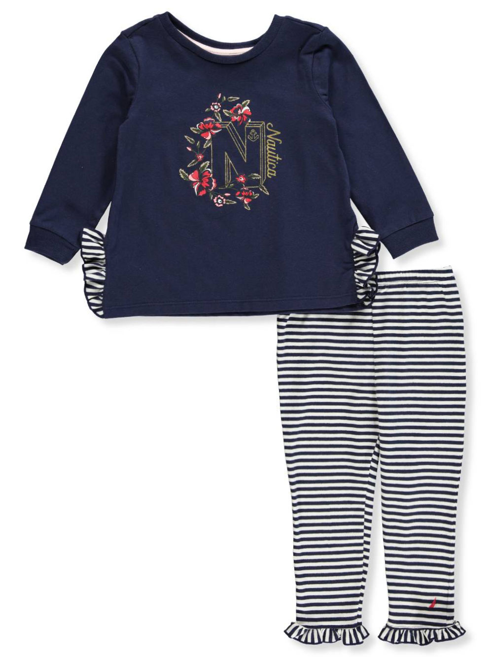 fcafd6af54f52 Baby Girls' 2-Piece Leggings Set Outfit by Nautica in Navy/multi from  Cookie's Kids