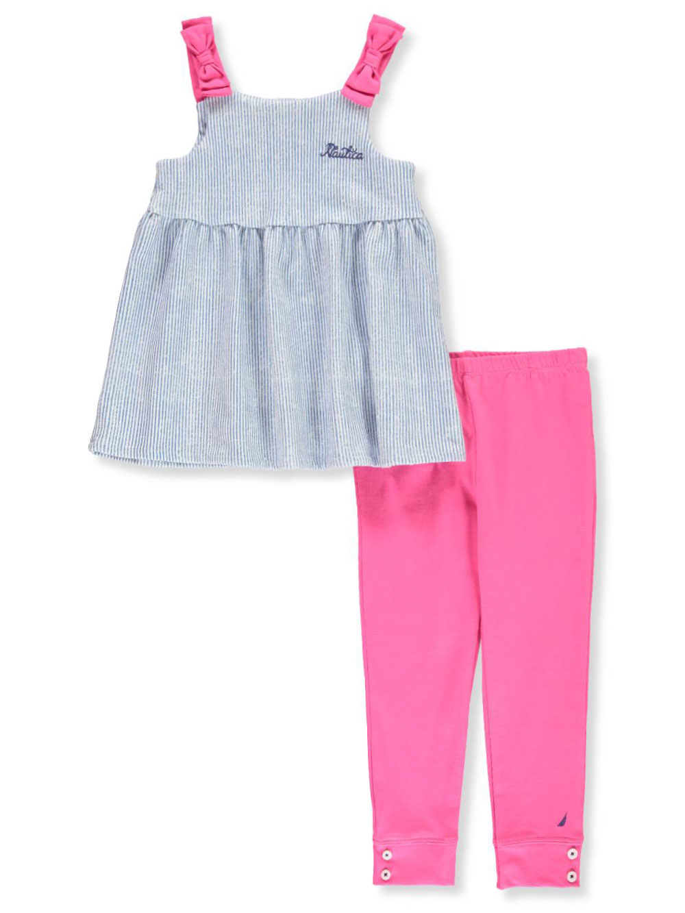 Nautica Infant Toddler Girl/'s Fashion Top with Leggings 2-Piece Set Baby NEW