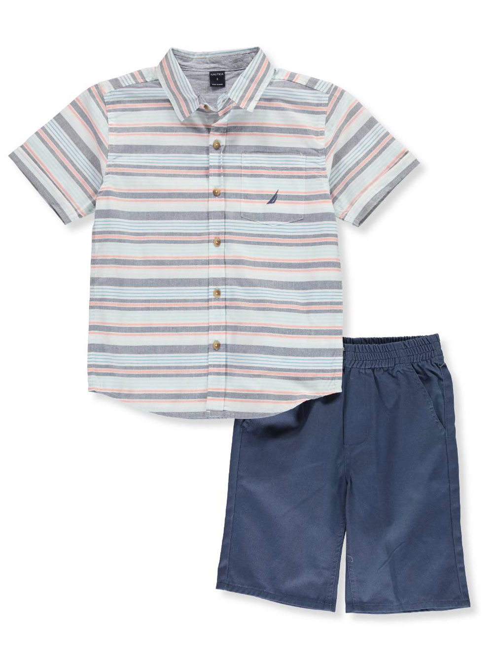 86ec62c49 Boys' 2-Piece Shorts Set Outfit by Nautica in Navy multi from Cookie's Kids