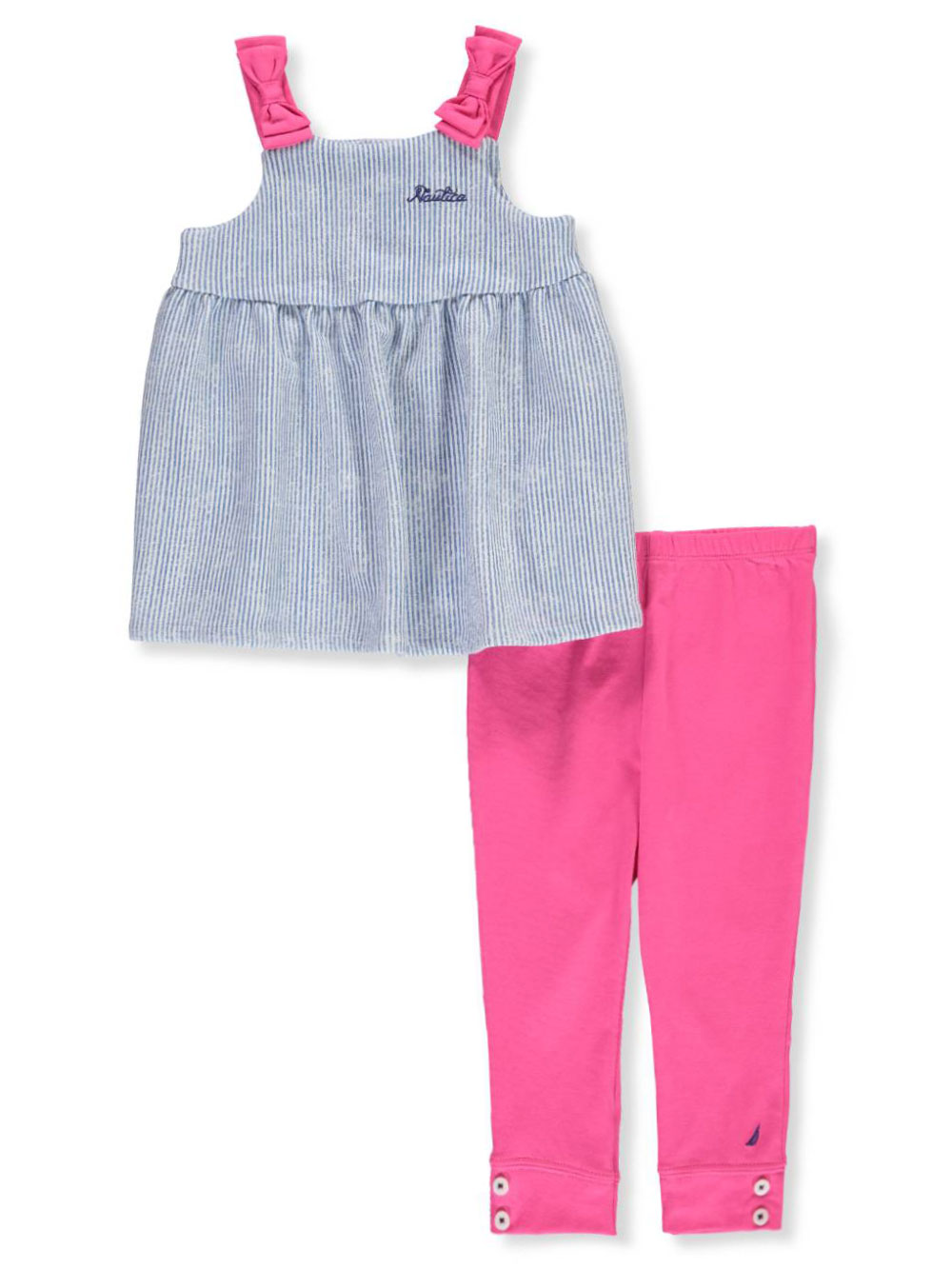 deb4b88c3 Baby Girls' 2-Piece Leggings Set Outfit by Nautica in Blue/pink from  Cookie's Kids
