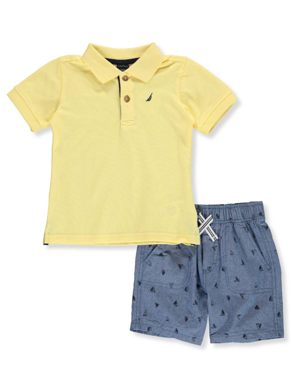 12784f72b Baby Boys' 2-Piece Shorts Set Outfit by Nautica in Yellow blue from Cookie's  Kids