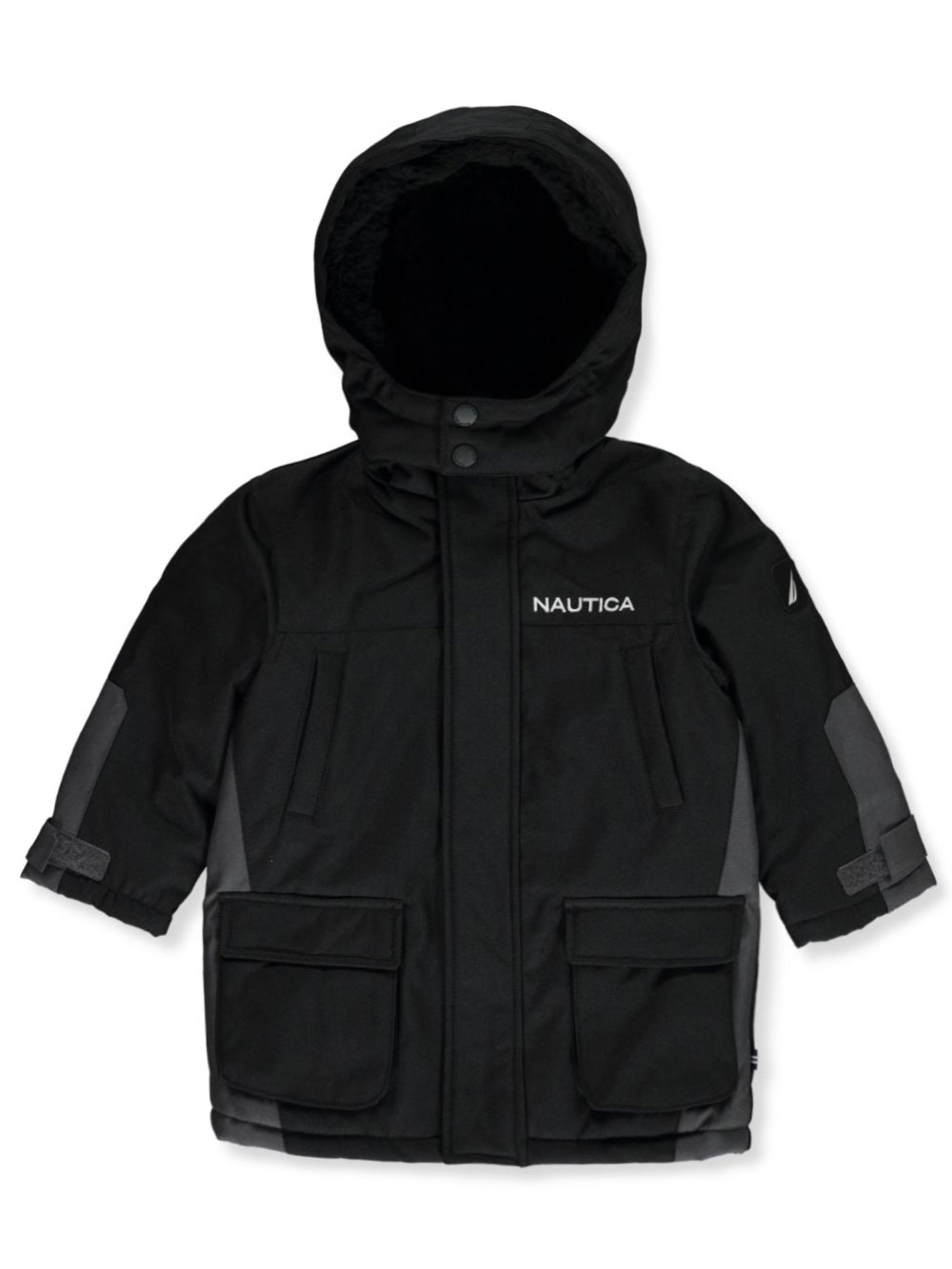Nautica Boys Quilted Full Zip Baseball Style Sweater