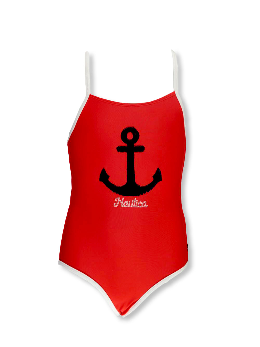 Girls Red Swimwear