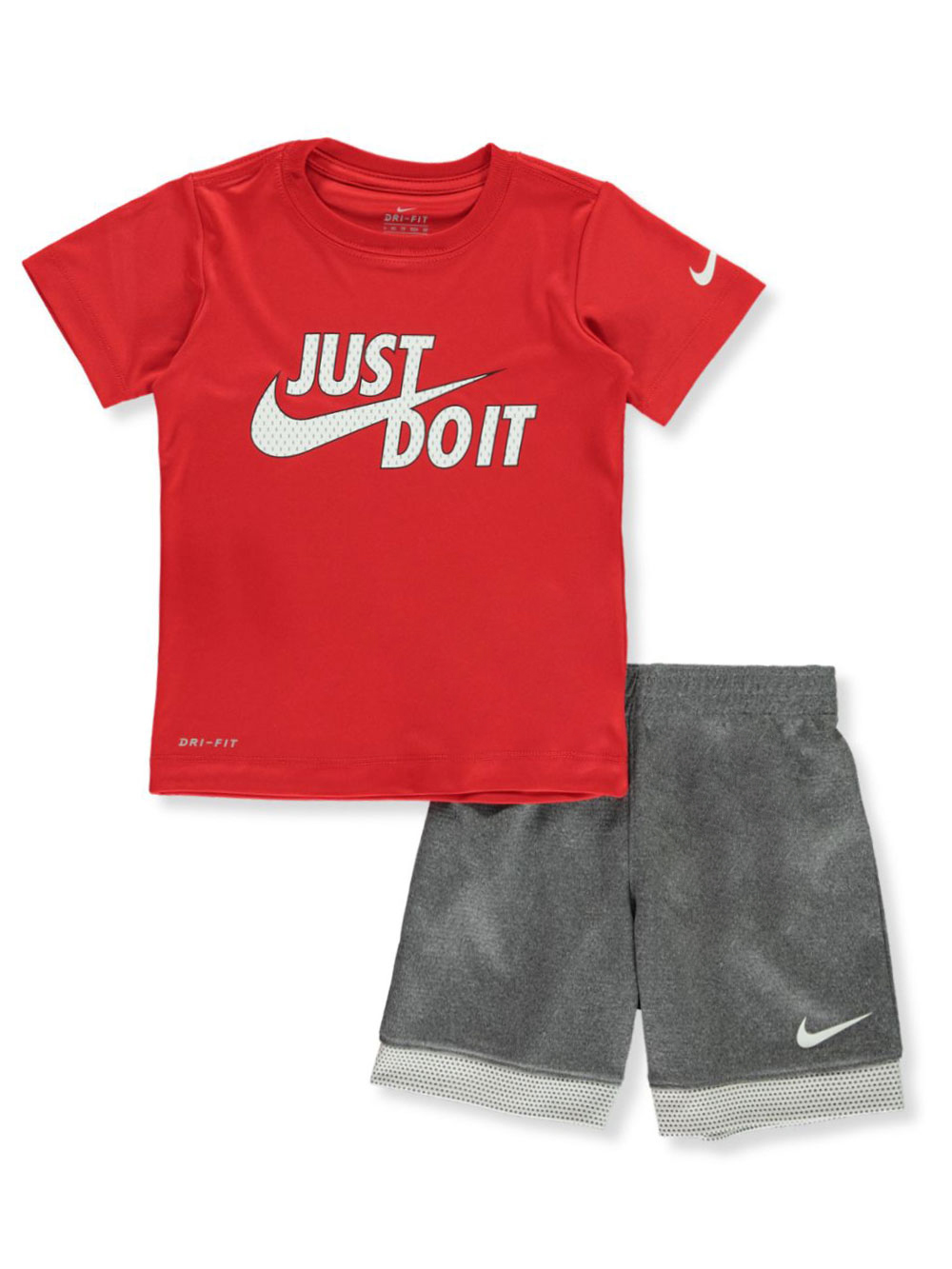 Boys Black Heather Short Set