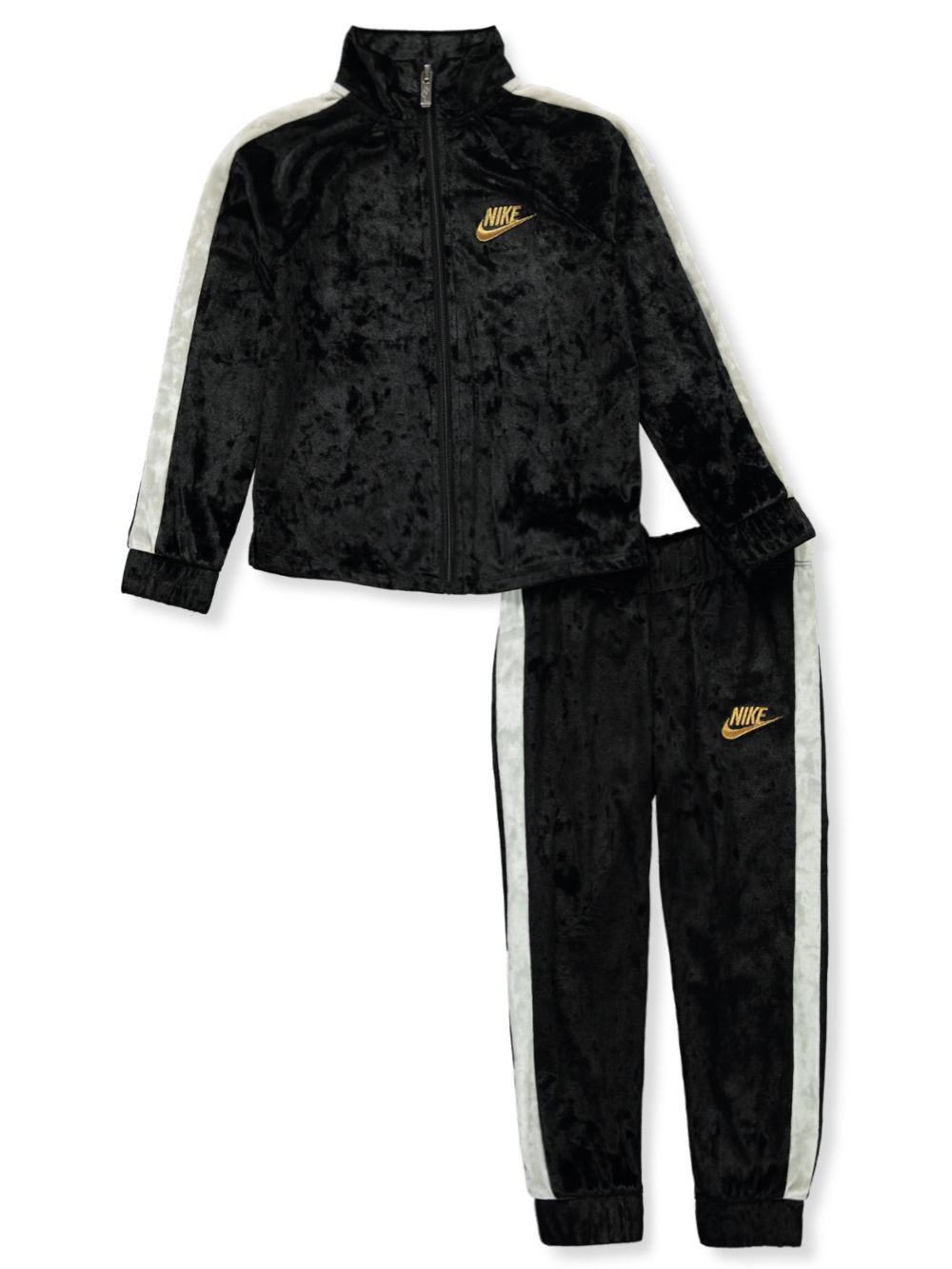Girls' Velour 2-Piece Tracksuit Outfit