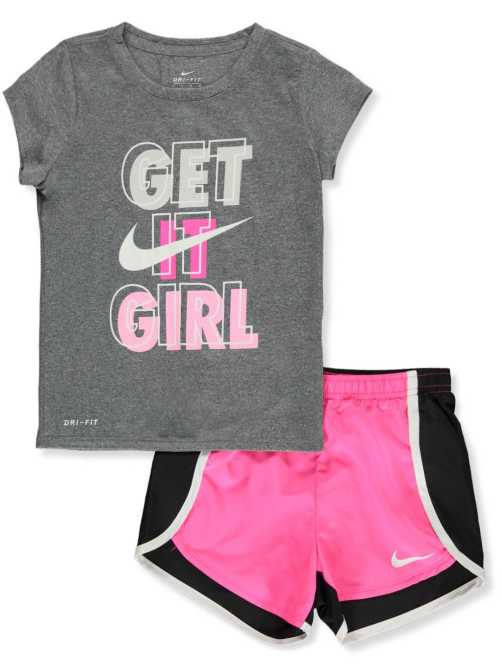 Girls' Dri-Fit 2-Piece Shorts Set Outfit