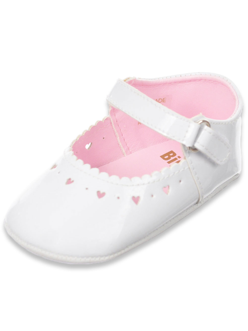 Big Oshi Baby Girls' Mary Jane Baby Shoes - white, 3 infant