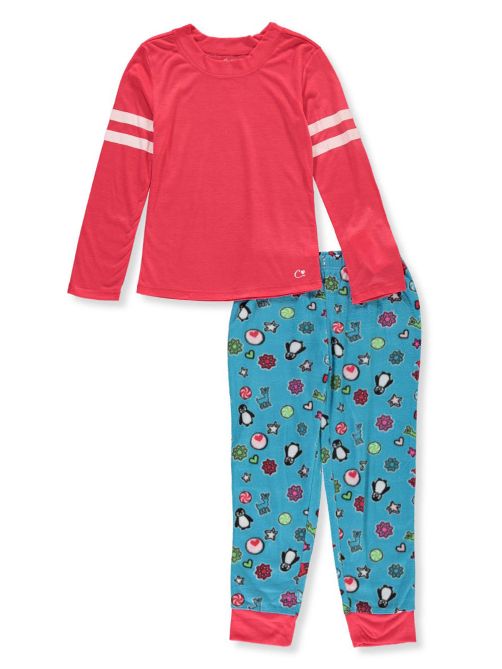 Girls' Penguin Print 2-Piece Pajamas