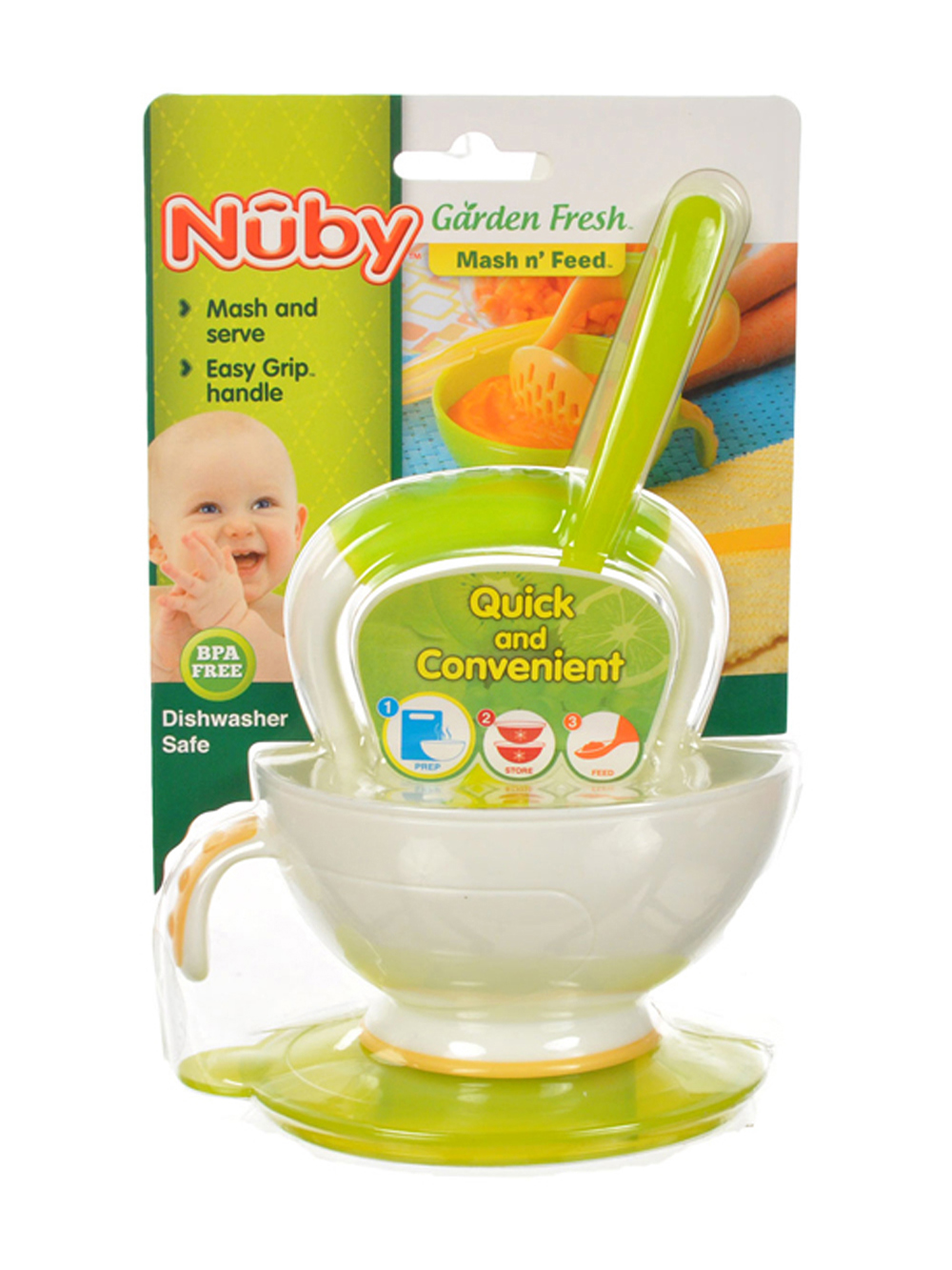 Image of Nuby Garden Fresh Mash n Feed  lime one size