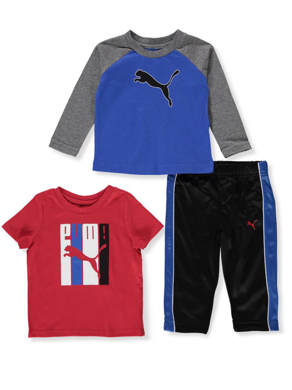 eb78be6d4 Baby Boys' 3-Piece Pants Set Outfit by Puma in Royal blue multi from  Cookie's Kids