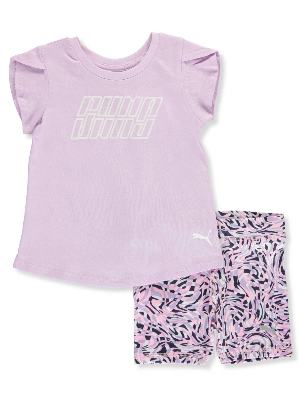 PUMA Girls Top and Tulle Skort Set