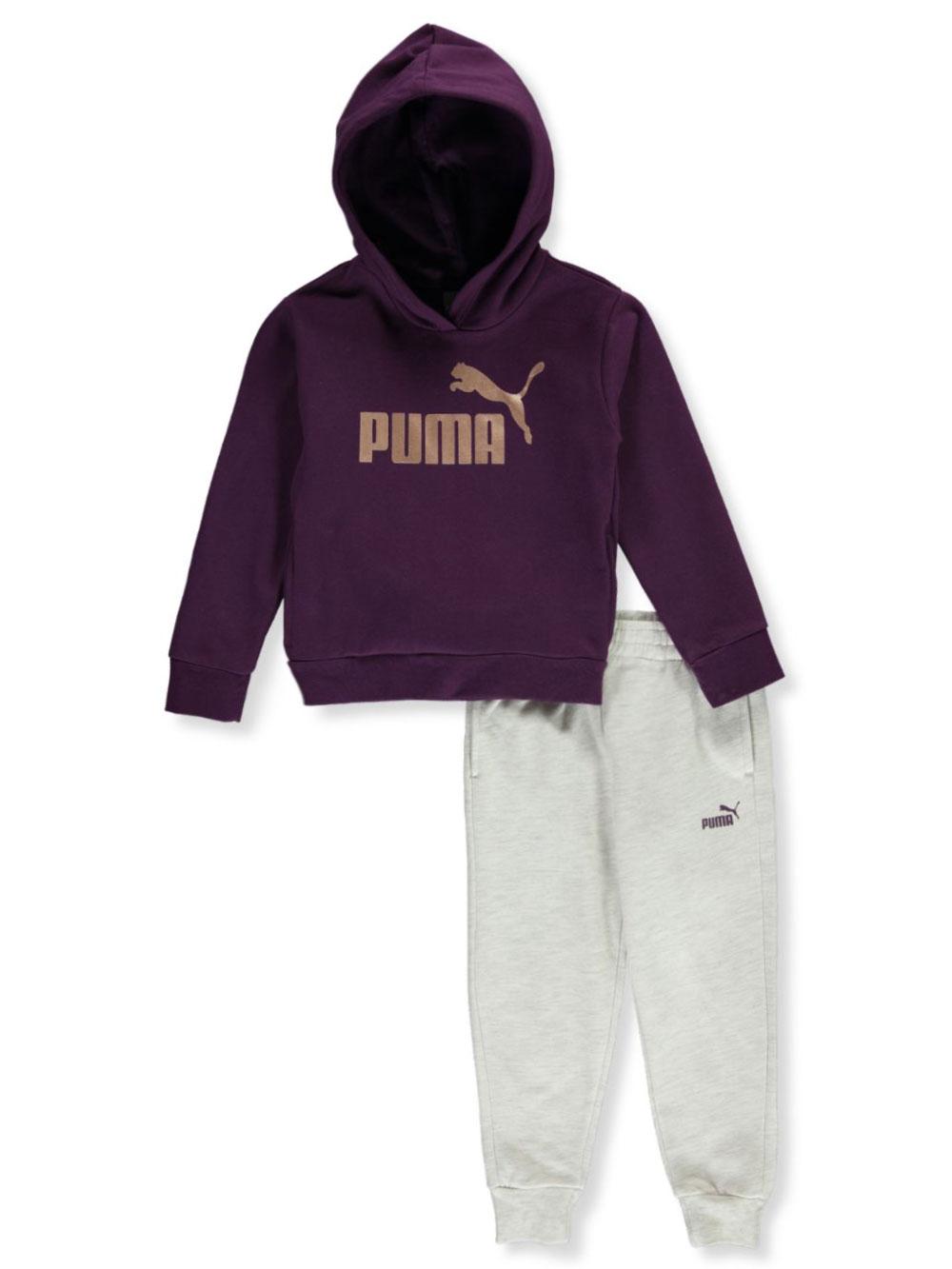 PUMA Little Girls/' Fleece 2 Pcs Hoodie Pants Set