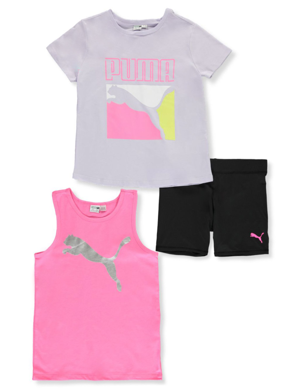 Girls' 3-Piece Shorts Set Outfit