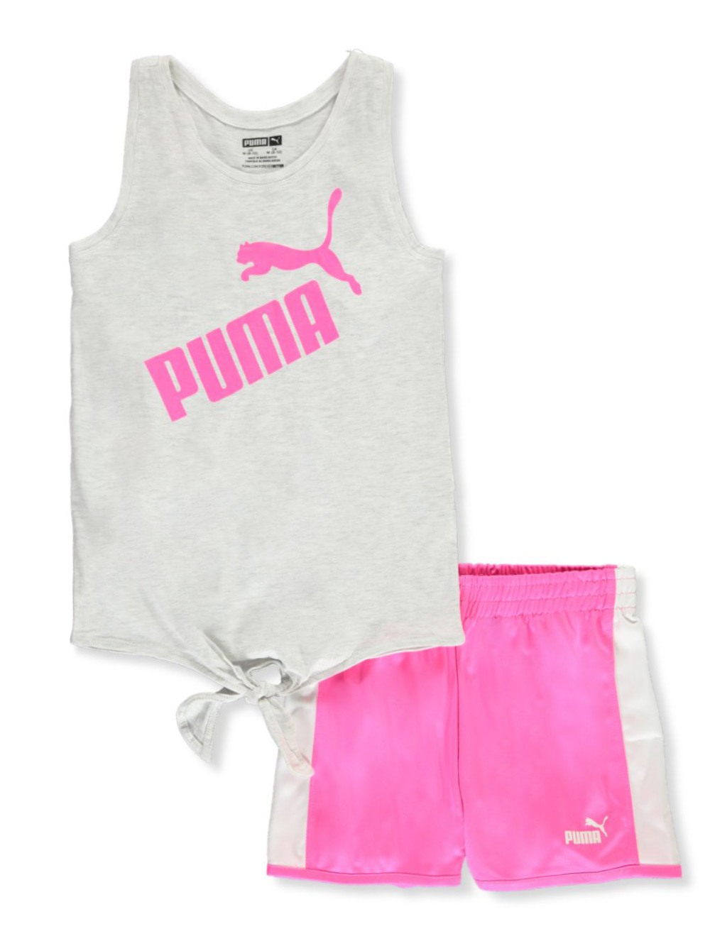 Girls' Neon 2-Piece Shorts Set Outfit