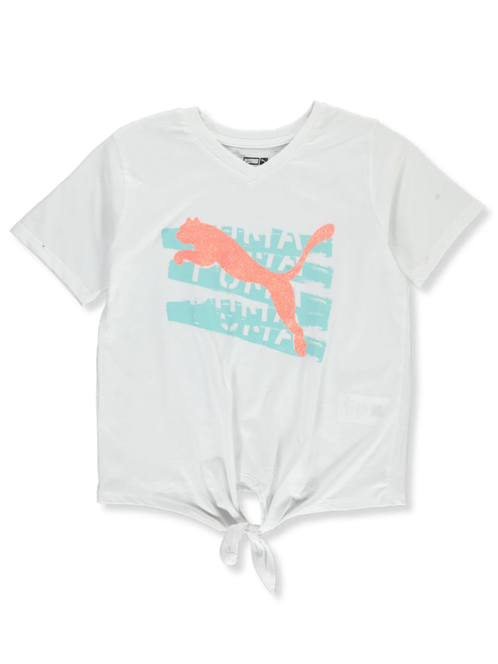 Girls' Stencil Logo Tie T-Shirt