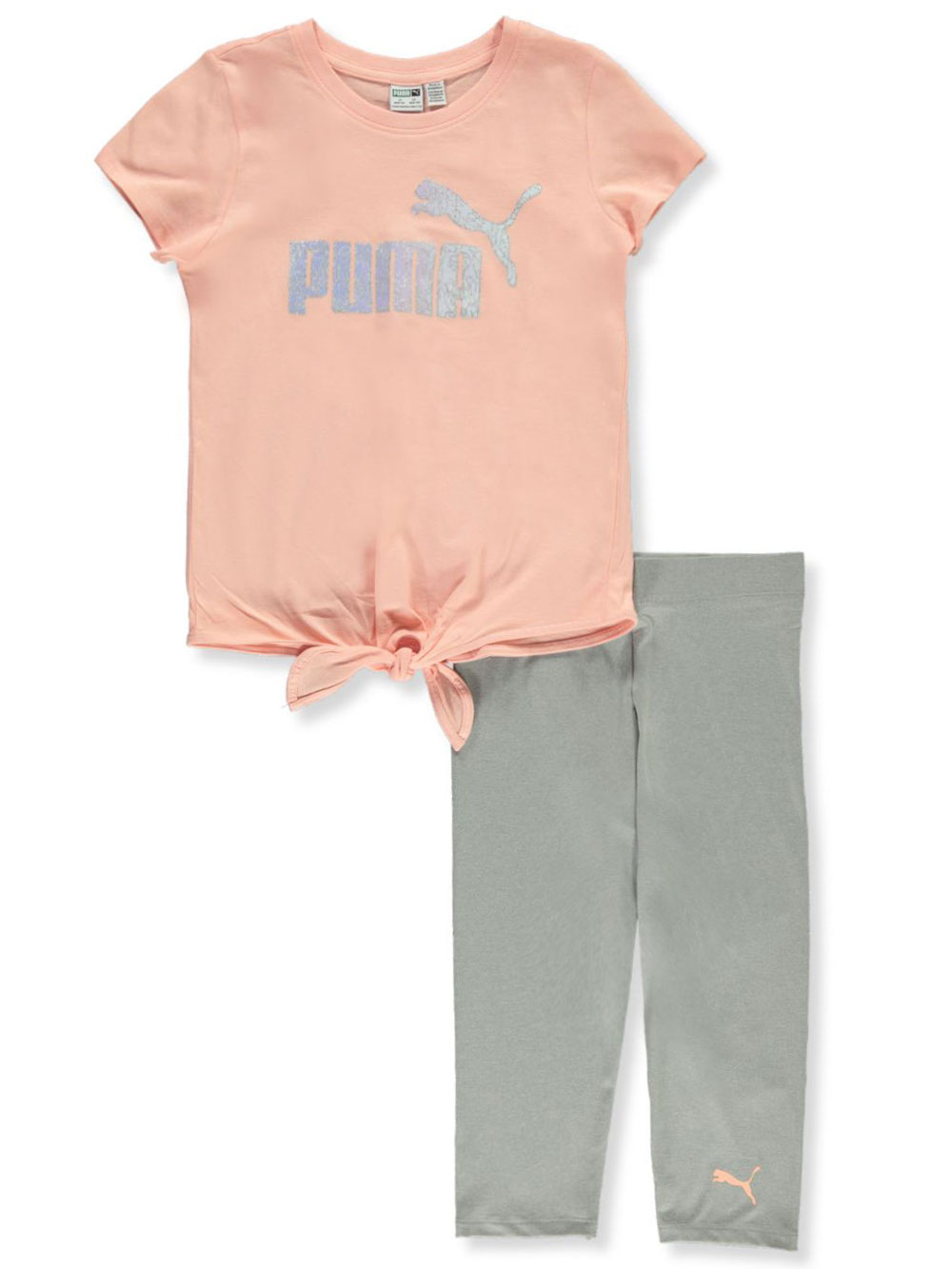Girls' 2-Piece Capri Leggings Set Outfit