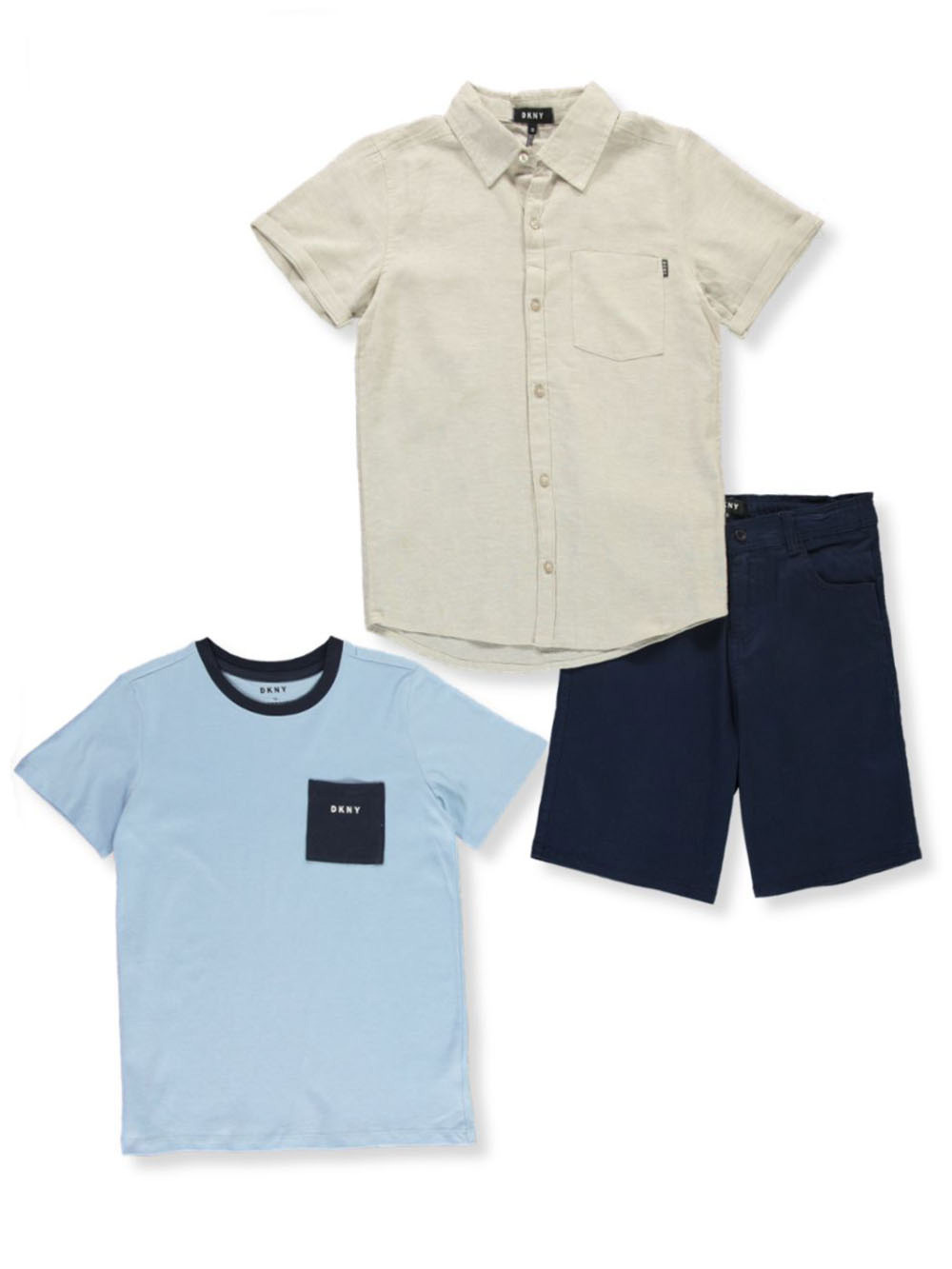 Boys' Casual 3-Piece Shorts Set Outfit