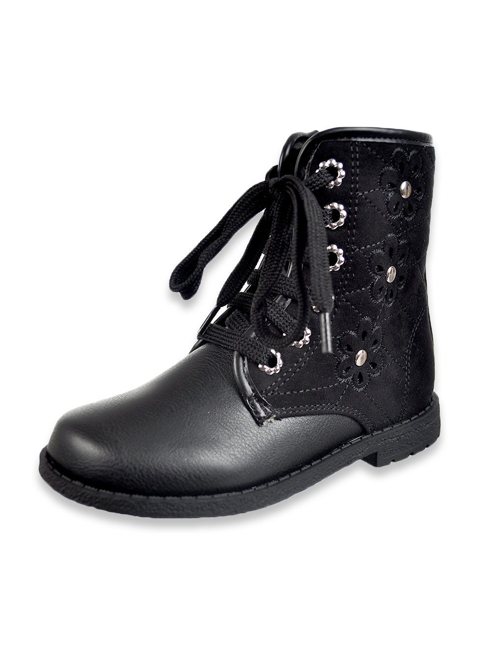 Girls Black Multicolor Boots