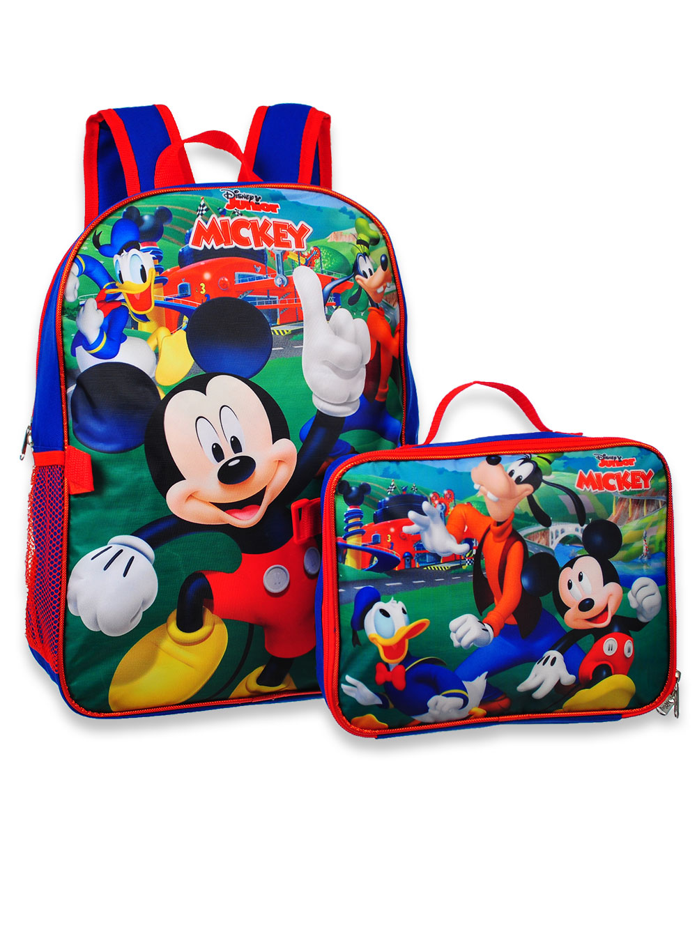 Blue and Multicolor Backpacks