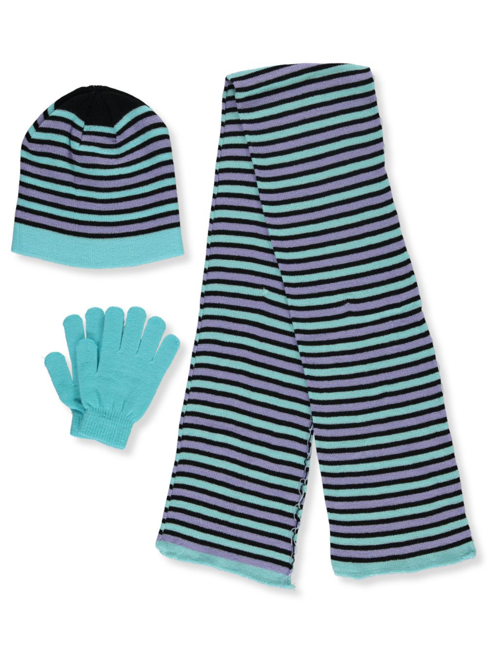 Border Stripe 3-Piece Winter Accessories Set
