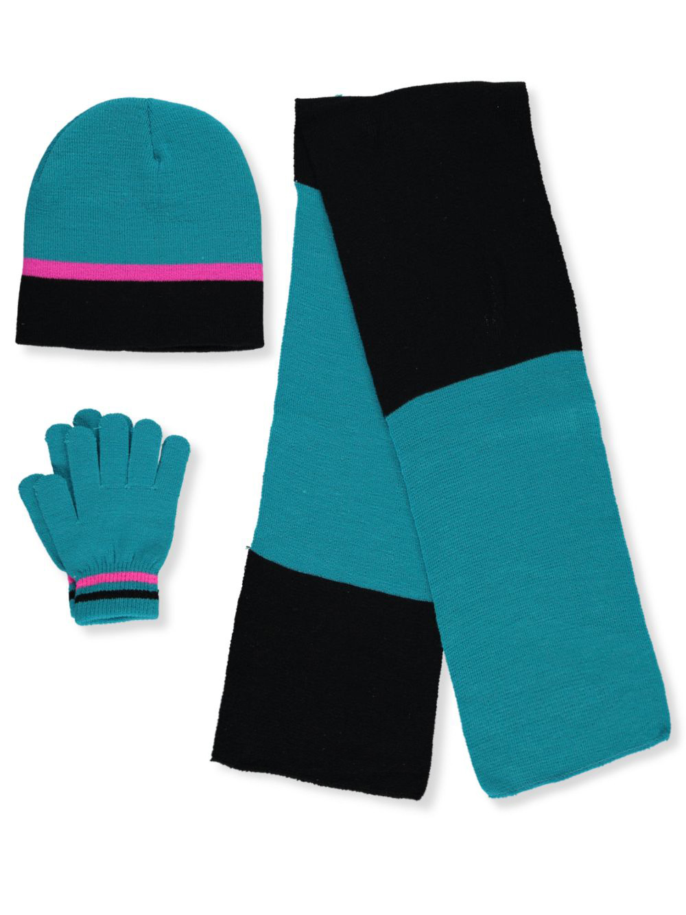 Colorblock 3-Piece Winter Accessories Set