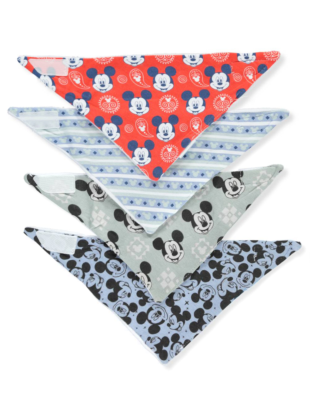 3c830a37042 Mickey Mouse Baby Boys' 4-Pack Bandana Bibs by Disney in Red/multi from  Cookie's Kids