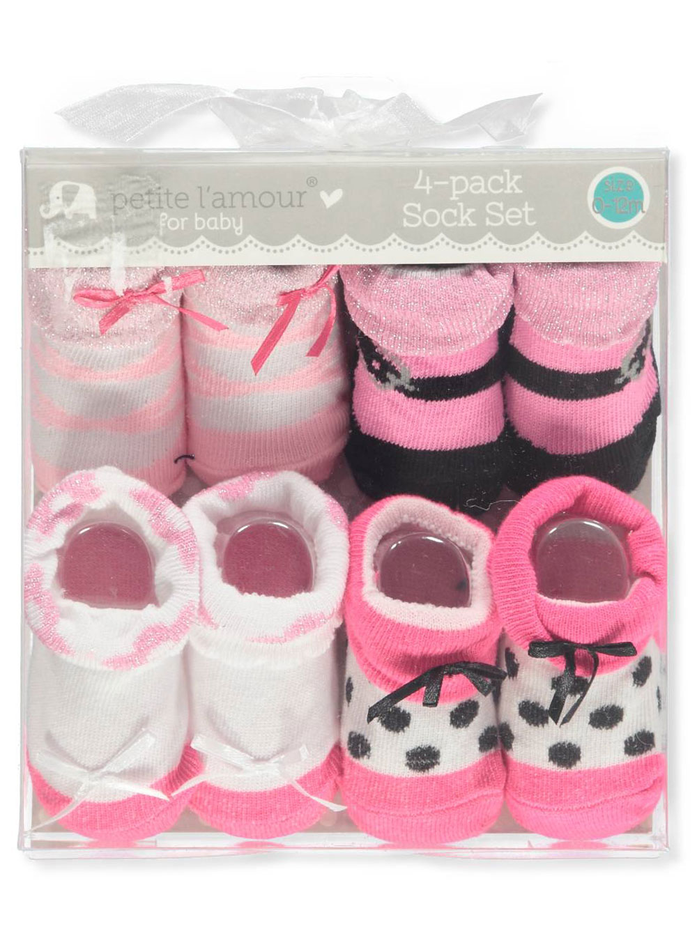 Baby Girls' 4-Pack Socks