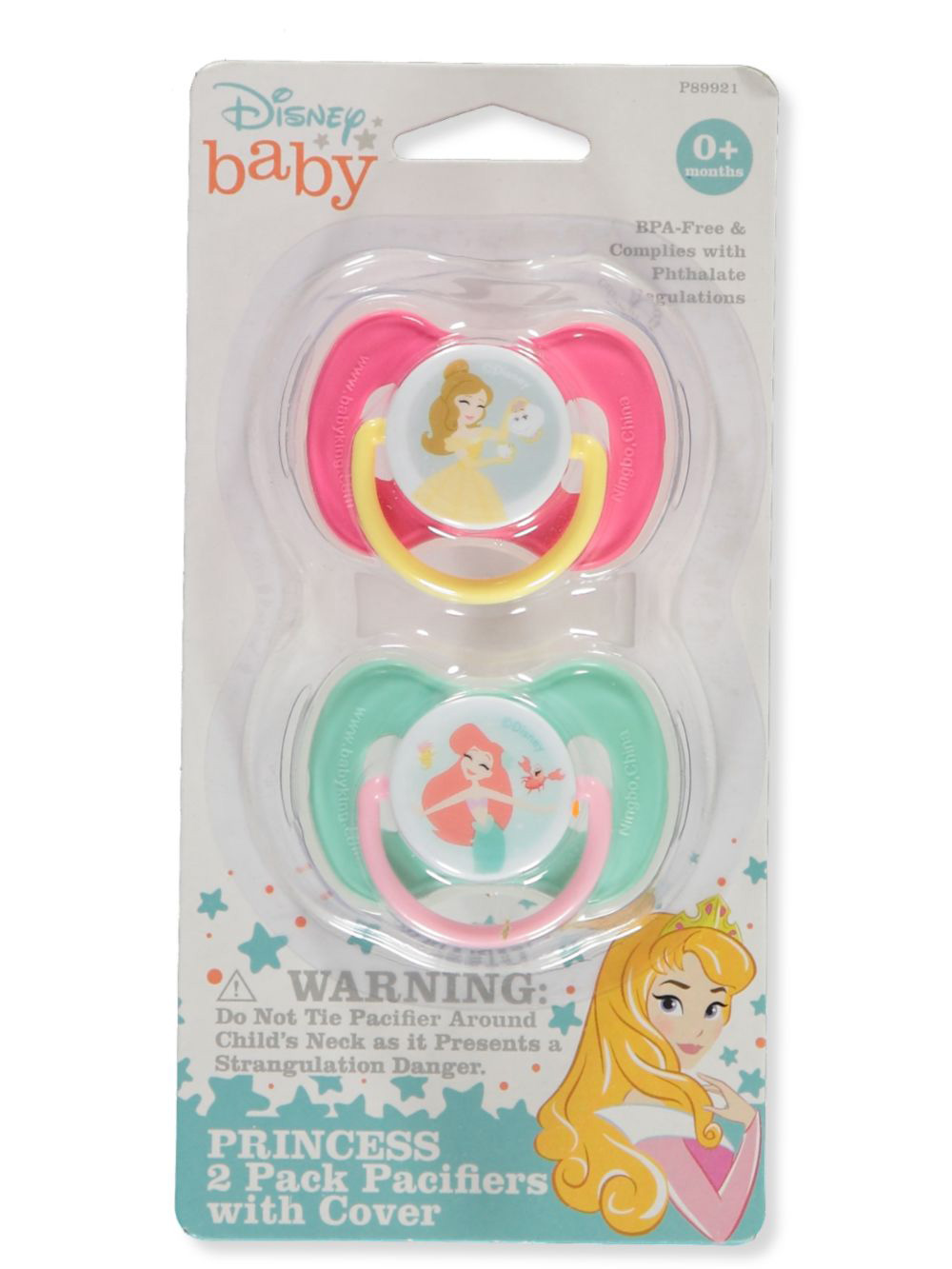Pacifiers Princess 2-Pack with Cover
