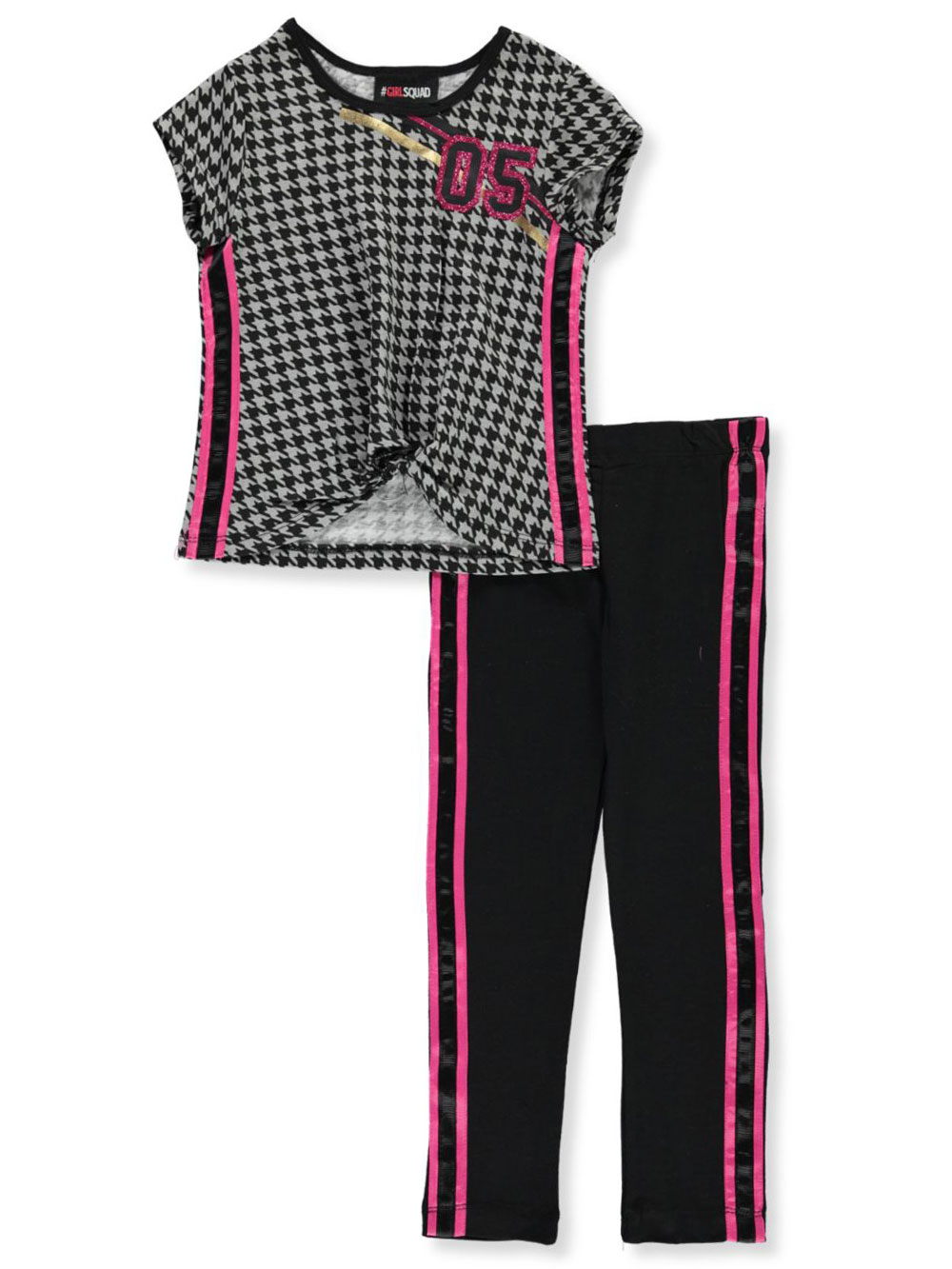Houndstooth 05 2-Piece Pants Set Outfit