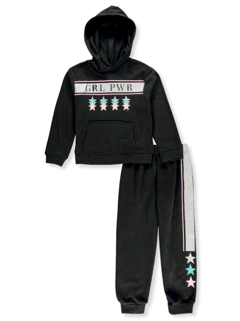 Girls' Grl Pwr 2-Piece Sweatsuit Outfit