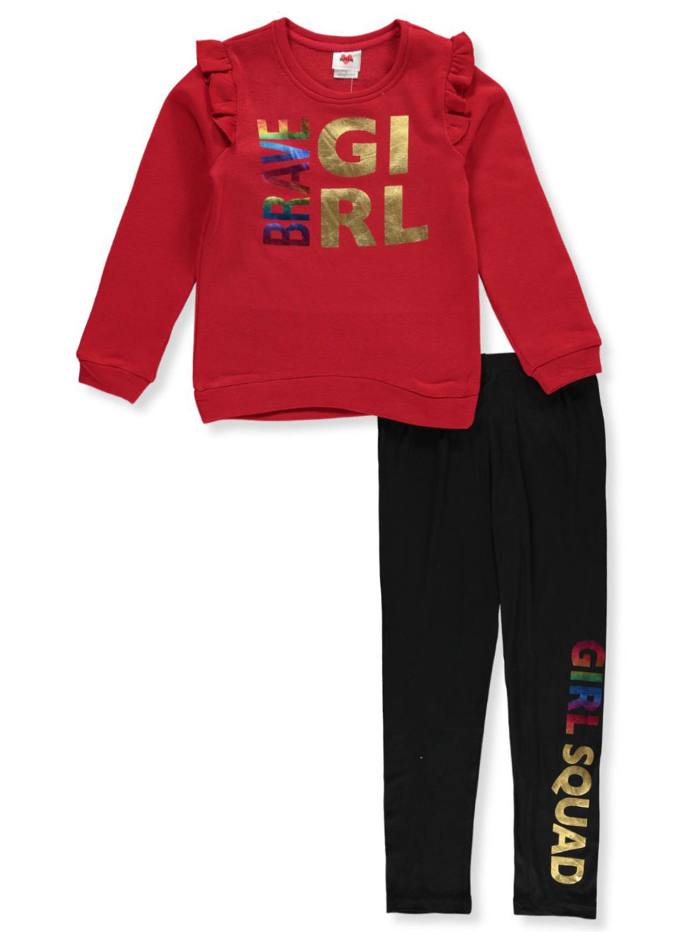 Girls Red Pant Sets