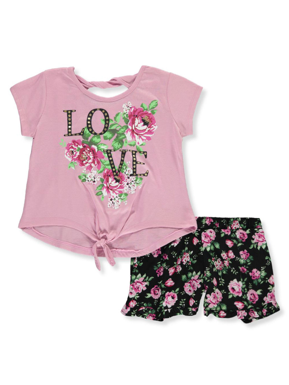 Girls Mauve Short Sets