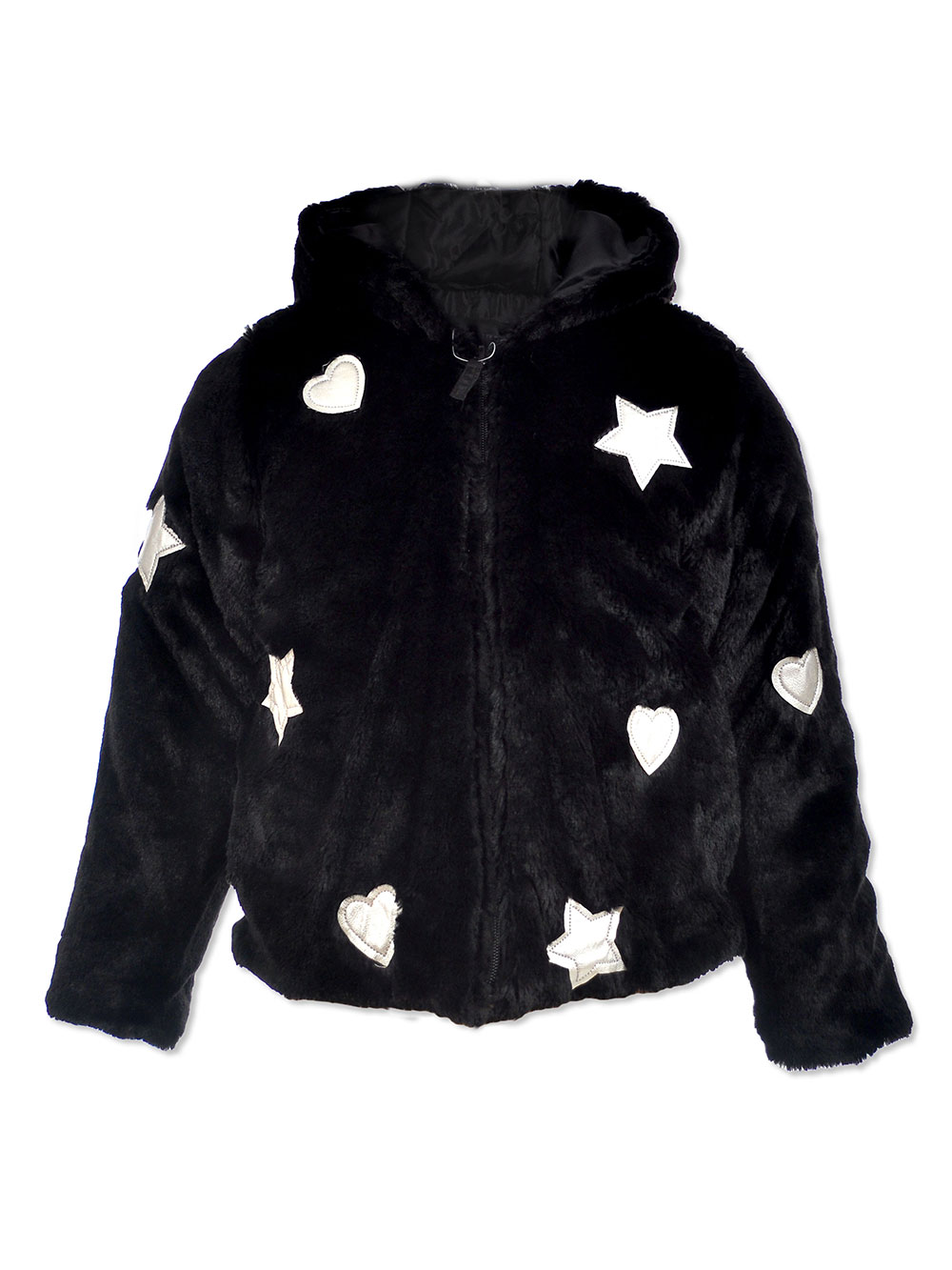 Girls' Star Plush Coat