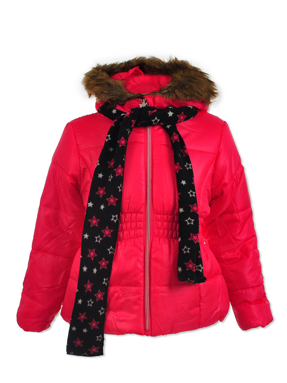 Insulated Parka with Scarf