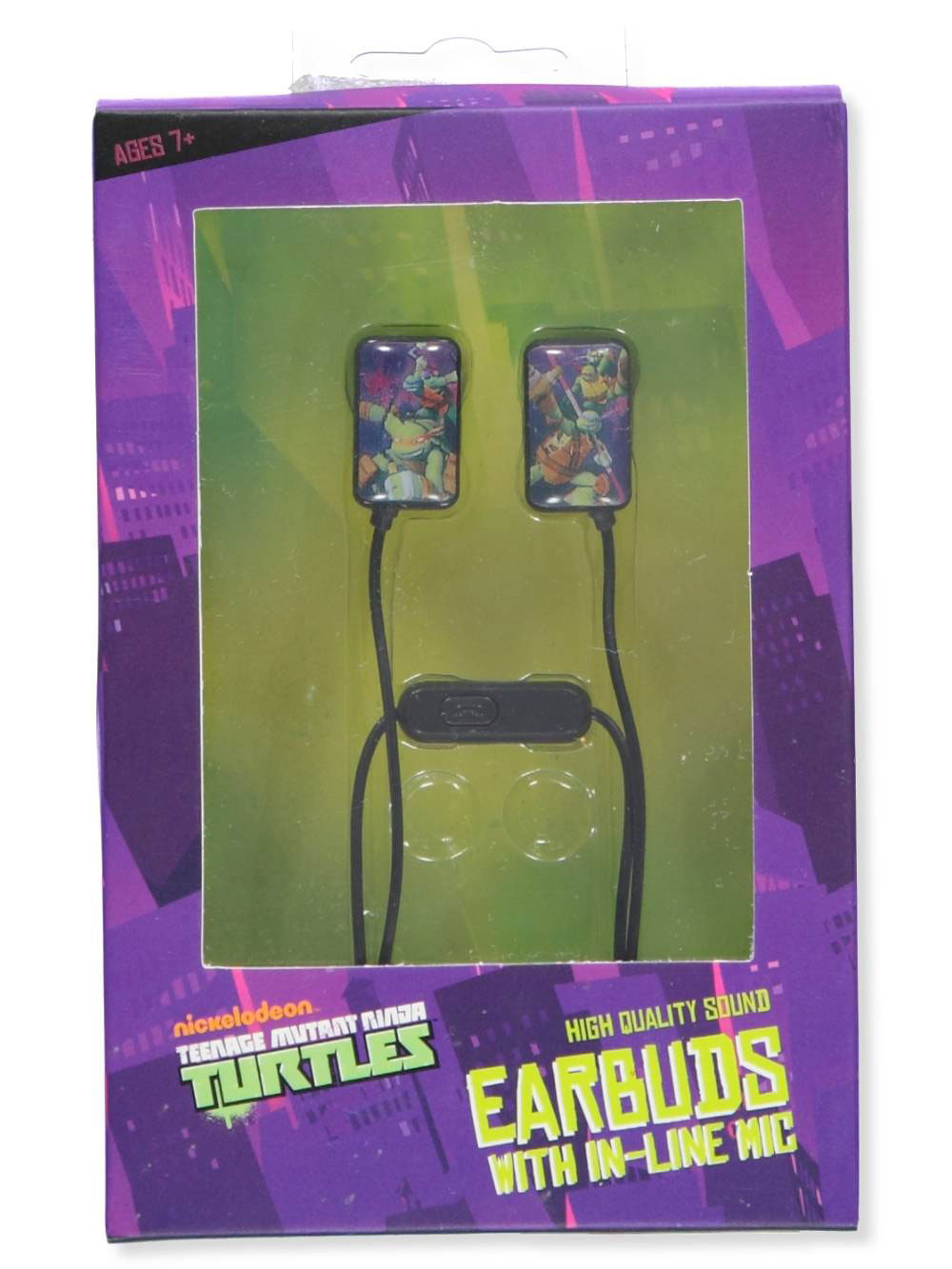 TMNT Earbuds by Teenage Mutant Ninja Turtles in Purple/multi