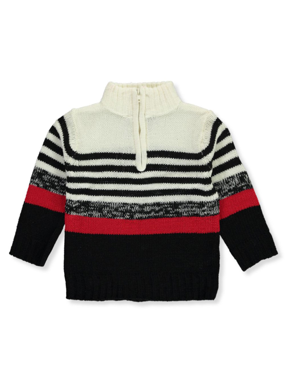 Boys' Layered Stripe Mock Neck Sweater