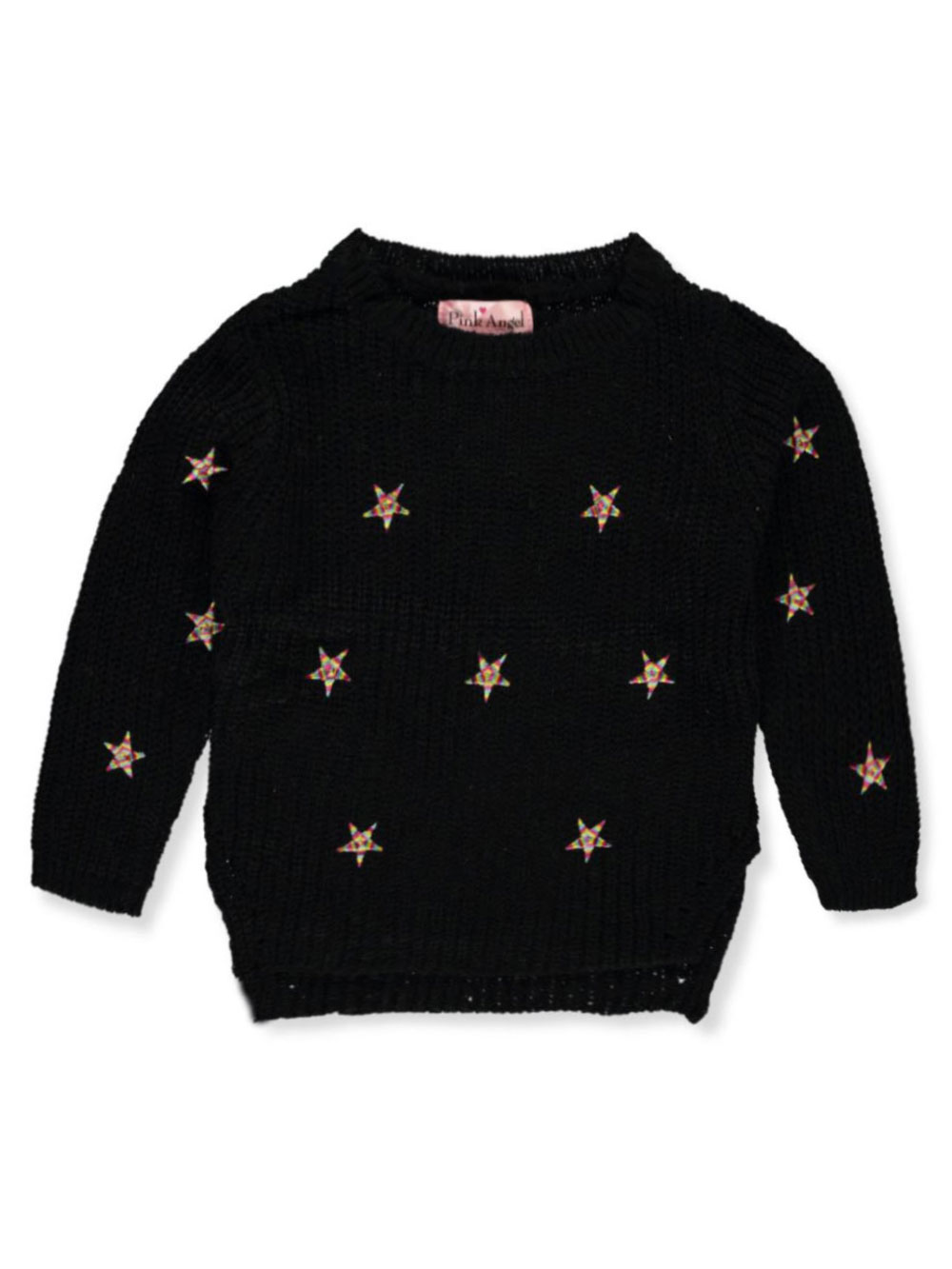 Girls' Star Embroidered Sweater
