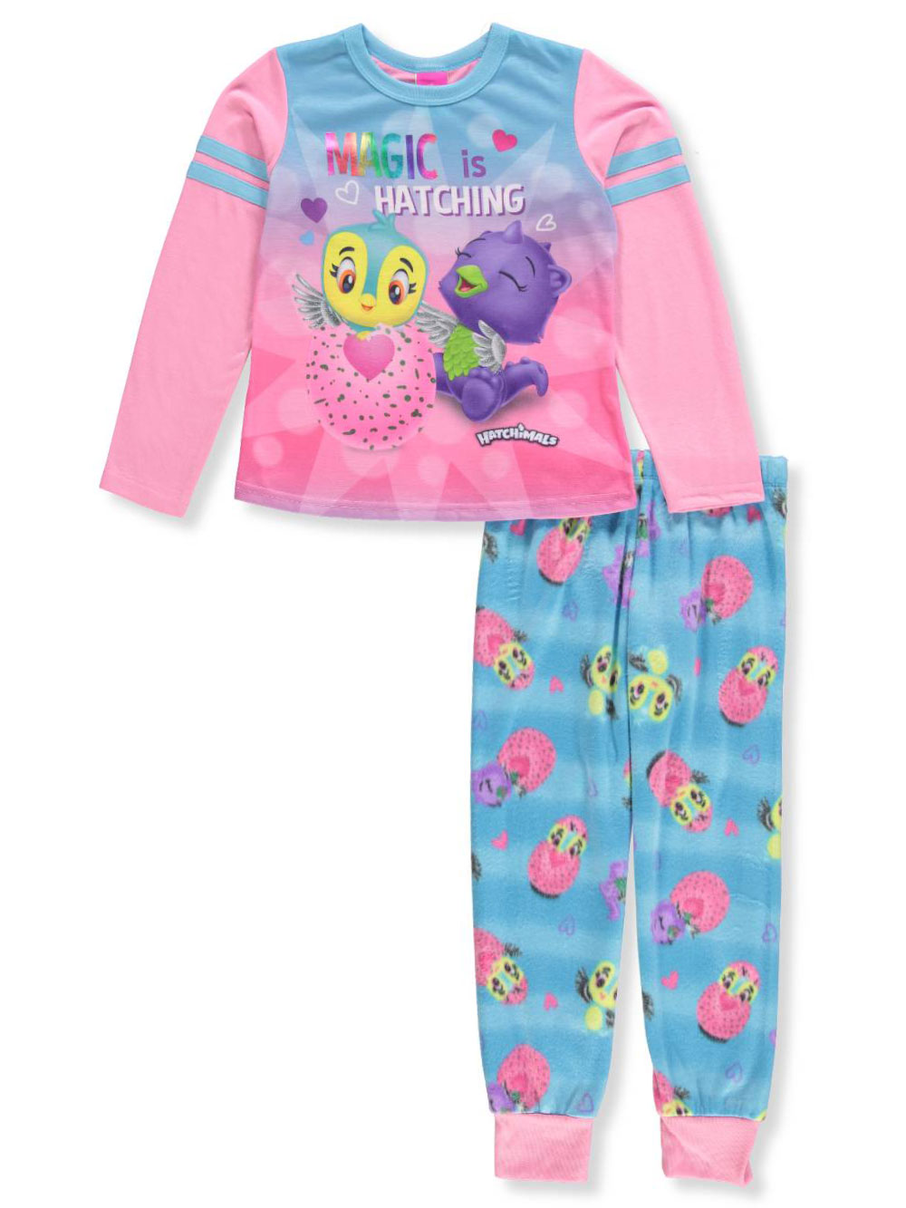 61ac085a6276 Girls' 2-Piece Pajamas by Hatchimals in Pink/blue