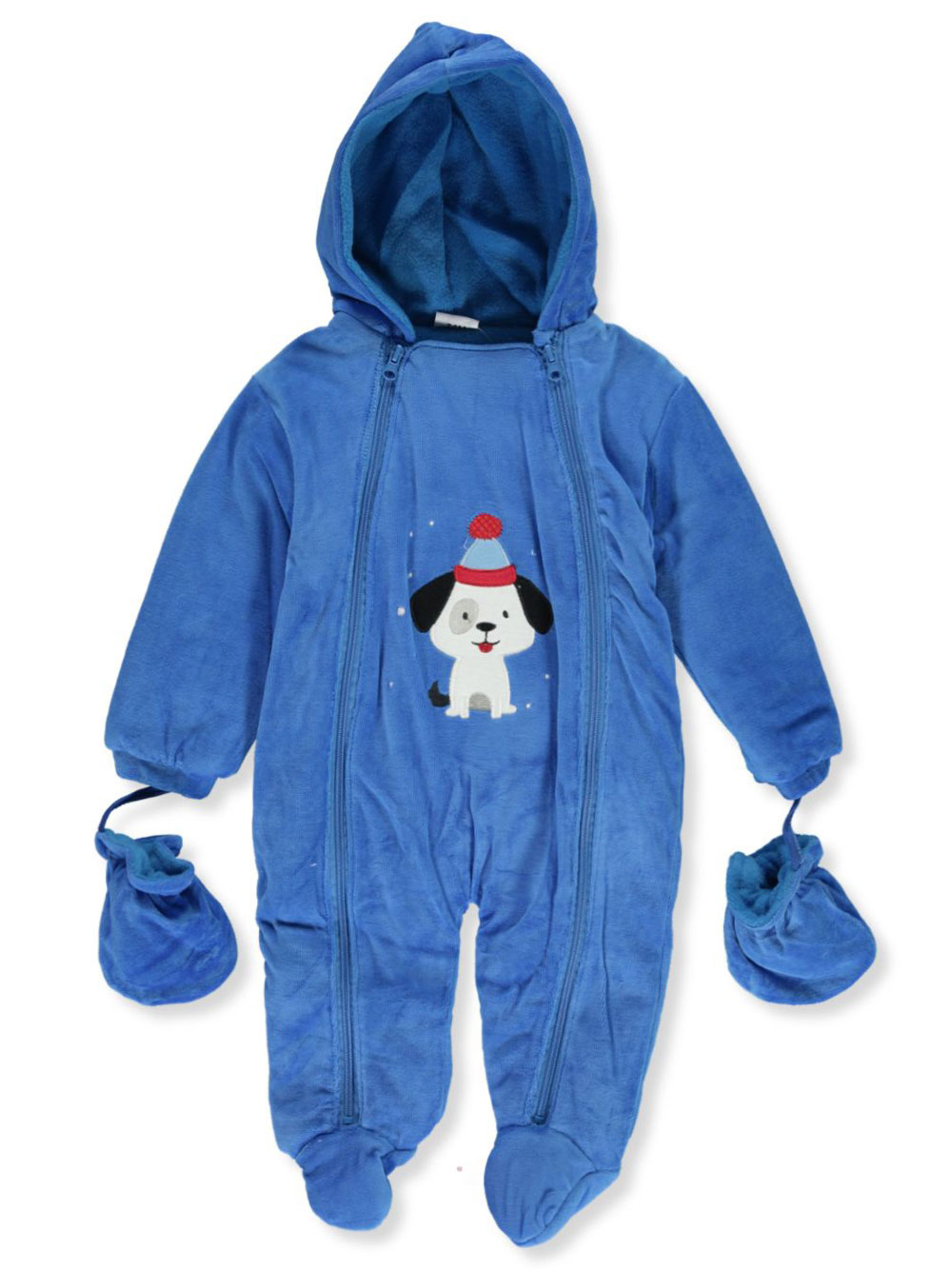 Microfleece Hooded Pram Suit with Mittens