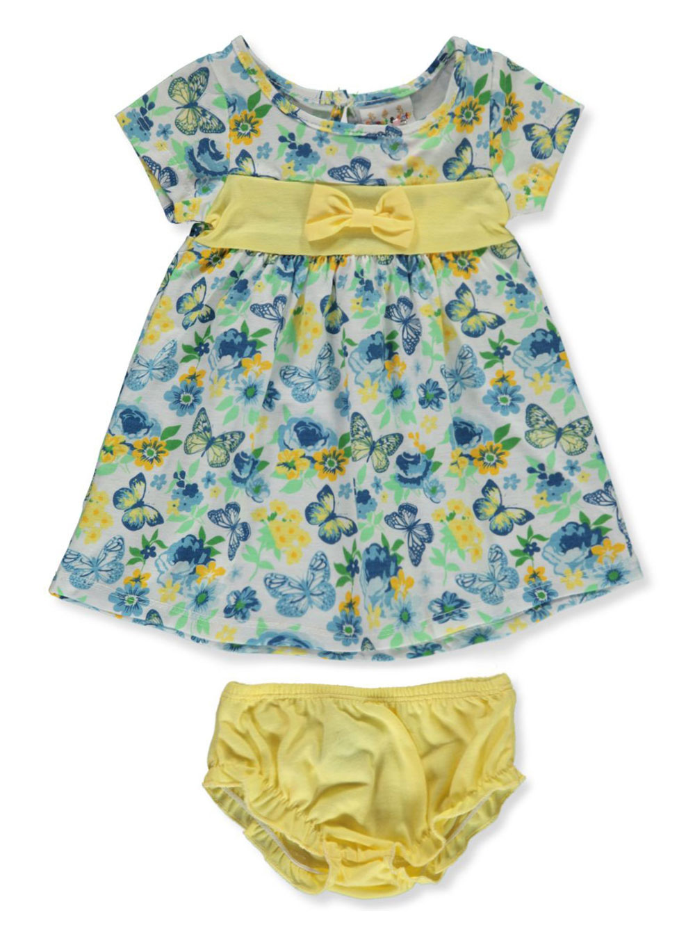 Blue and Multicolor Newborn Dresses