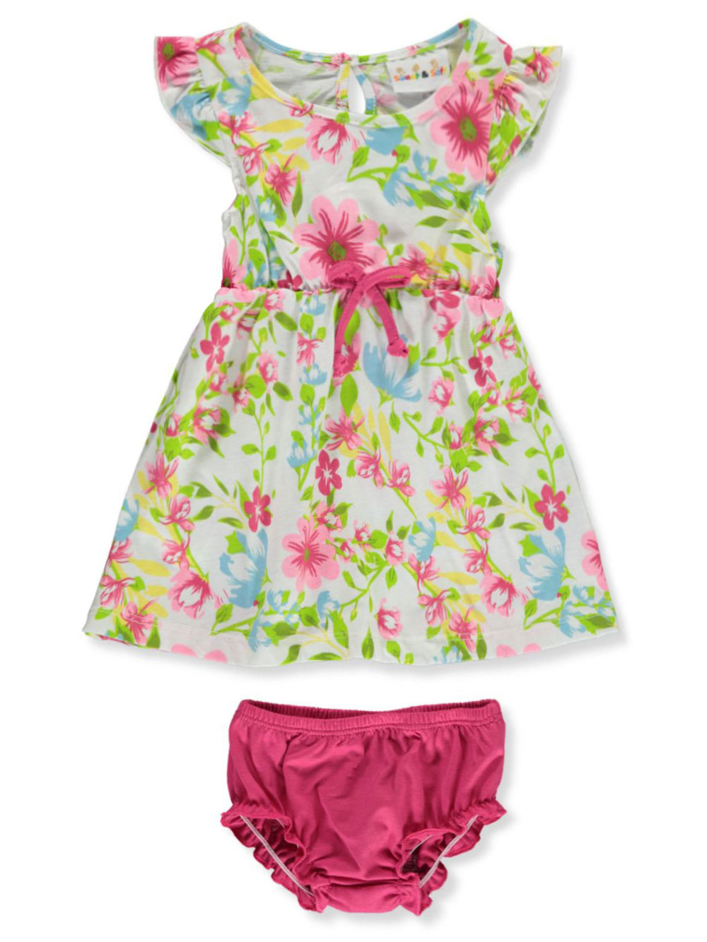 Pink and Multicolor Newborn Dresses