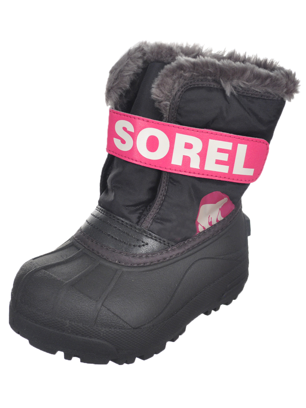Image of Sorel Unisex Snow Commander Boots Toddler Sizes 8  12  haute pinkblack 9 toddler