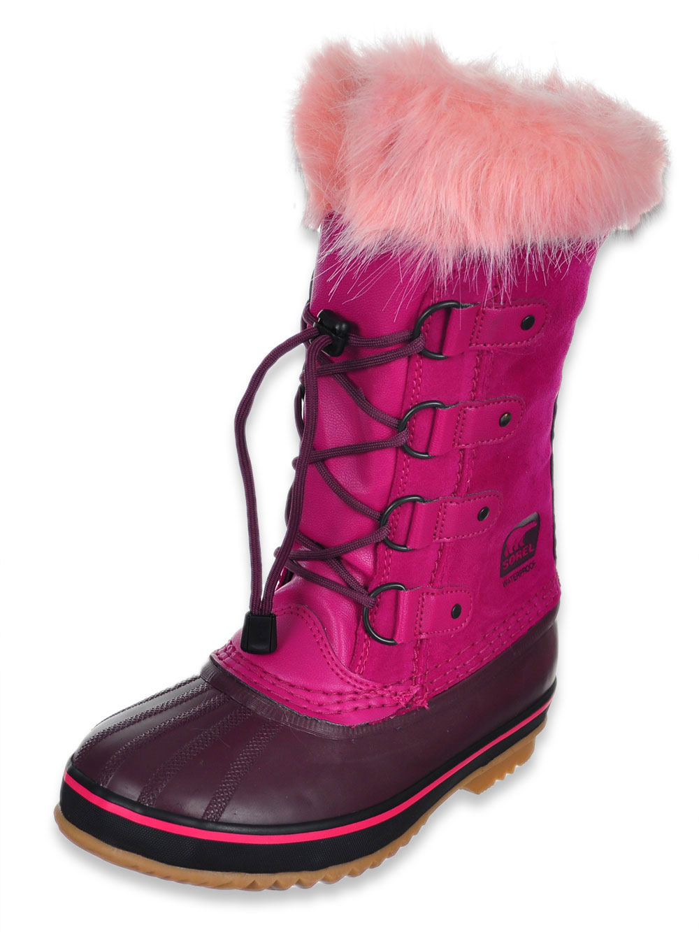 68416da79d6f7 Girls' Joan of Artic Boots by Sorel in black and raspberry from ...