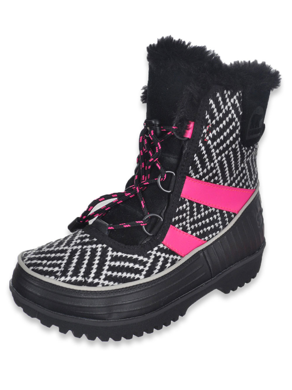 Girls Black and Pink Boots