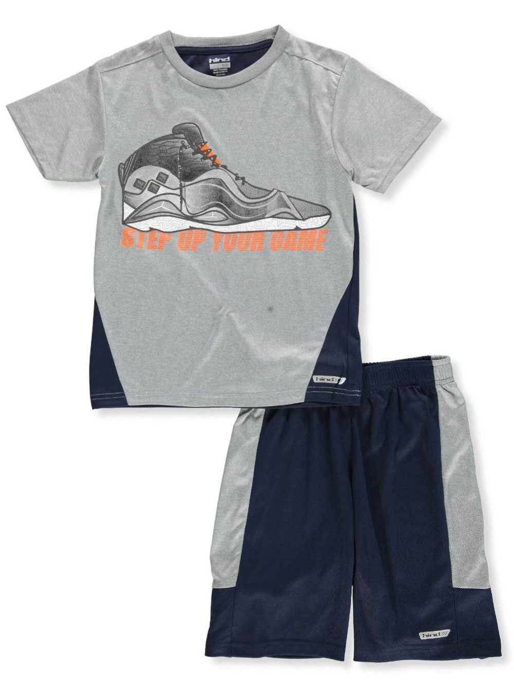 32c2e6290 Boys' 2-Piece Shorts Set Outfit by Hind in Gray/navy from Cookie's Kids