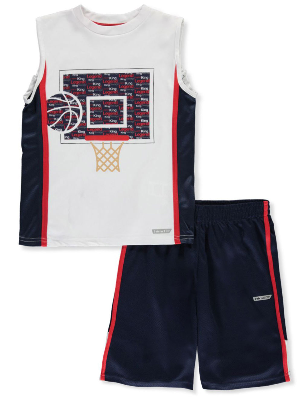 Boys Navy and Red Short Sets
