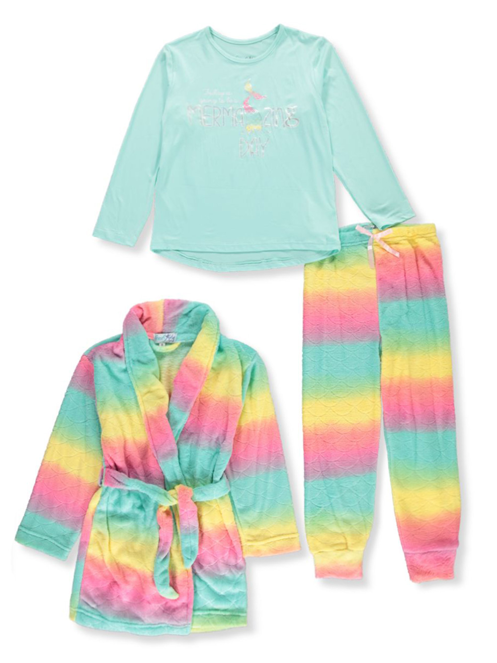 Girls Fashion 3-Piece Pajama Set
