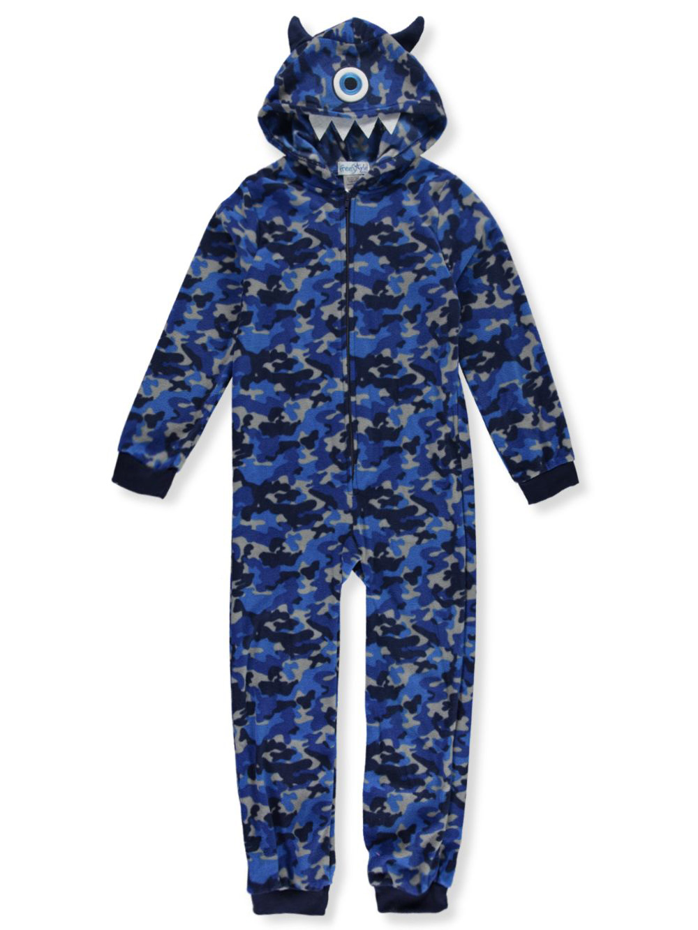 Boys Fashion Plush 1-Piece Pajama Suit