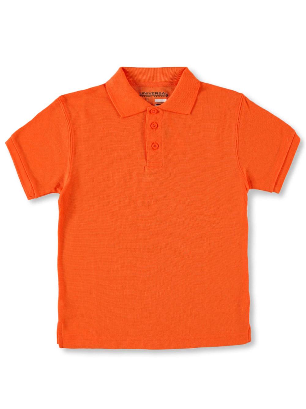 6 orange Universal Unisex S//S Pique Polo
