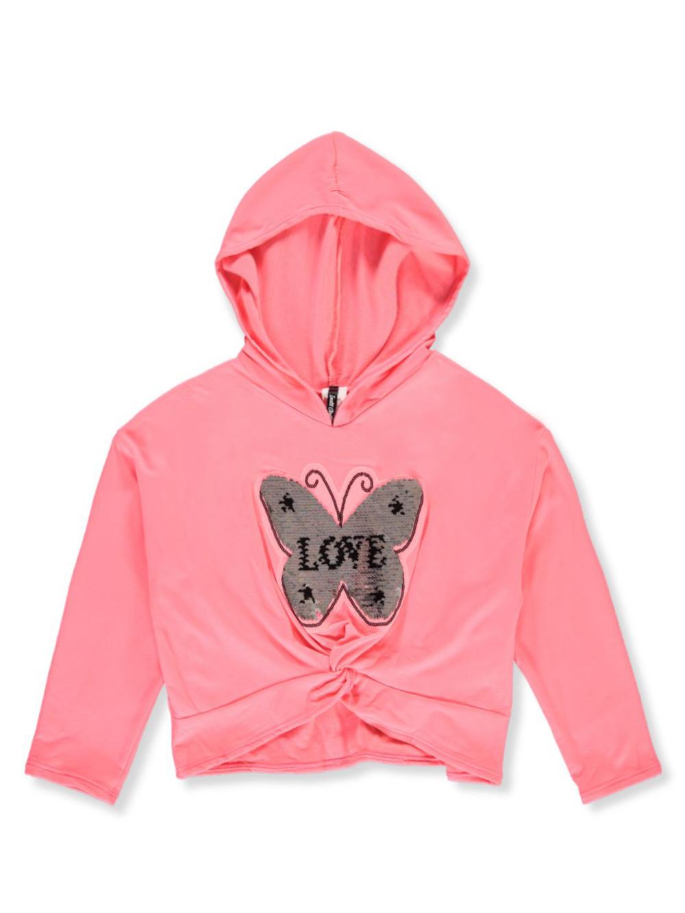 RMLA Girls Flip Sequin Butterfly 2-Piece Sweatsuit Outfit